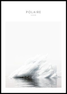 Poster with an iceberg.