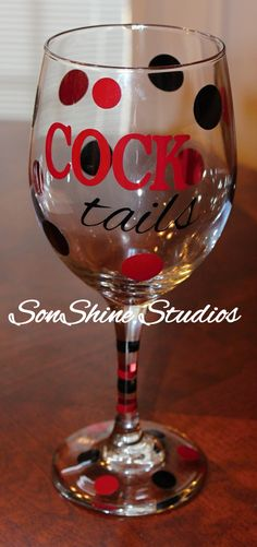 USC Gamecock Cocktails Wine Glass by sonshinestudios on Etsy, $12.00