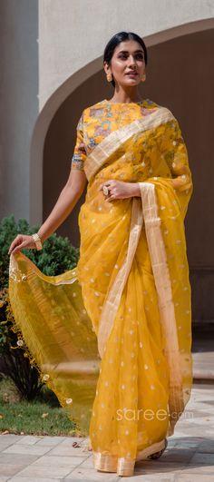 Half Saree Lehenga, Wedding Sari, Work Sarees, Party Wear Sarees, Indian Sarees, Sequins, How To Wear, Color, Style