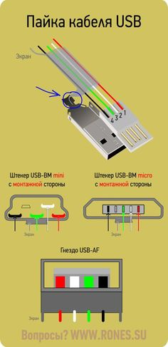 usb-cable-soldering - News Technology Simple Electronics, Electronics Components, Electronics Projects, Electronic Engineering, Electrical Engineering, Usb, Basic Electrical Wiring, Electronic Schematics, Circuit Diagram