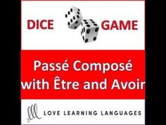 (16) Dice Game - French Passé Composé with Être and Avoir - Jeu de Dés - YouTube French Pass, French Grammar, Game Pass, French Resources, French Teacher, Everyday Activities, Dice Games, Teacher Resources, Told You So