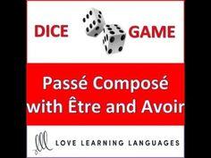 (16) Dice Game - French Passé Composé with Être and Avoir - Jeu de Dés - YouTube