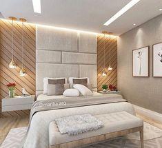Boa noite!  Inspiração de um dormitório lindo e bem elaborado! ❤️ . . • Projeto e foto by @marilia.arq #decoretdo