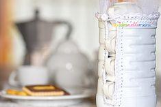 Eco Craft Tour - Maggio: porta tazzine fai da te, riciclo creativo bottiglie plastica (unideanellemani)
