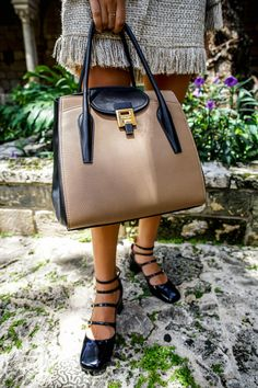 Michael Kors Collection bag outfit styled by Miami fashion blogger Tanya Litkovska in Ancient Spanish Monastery Miami