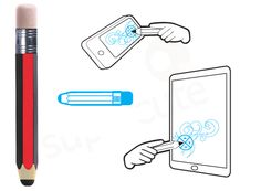 Pencil Style Touch Screen Stylus For iPhone4/3G/3GS/iPad