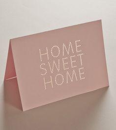 HOME SWEET HOME — Studio Sarah #stationary #card