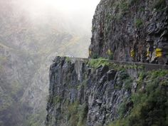 Nun's Valley -Curral das Freiras, Madeira. A captivating place reached by the highest, scariest, hairpin bends I have ever travelled, terrifying!!! Here is just one ....