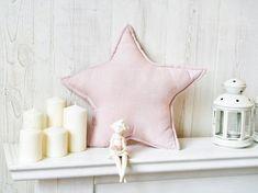 Star Shaped Pillow, Pink Nursery Decor, Deco Star Pillow, Star Cushions, Pink Pillow, Decorative Linen Pillows, Star Decor, Star Home Decor #StarDecor #StarPillow #StarShape Girls Pink Bedding, Linen Bedroom, Pink Pillows, Star Decorations, Bed Linen Sets, Star Shape, Nursery Decor, Playroom, Etsy Shop