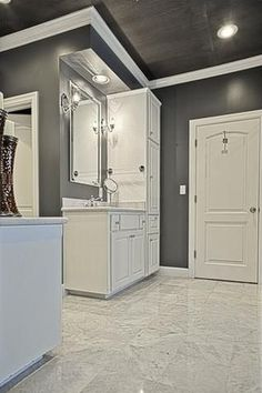 traditional master bathroom with specialty door raised panel inset cabinets master bathroom - Beaded Inset Hotel Decoration