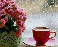 Rainy coffee wallpaper with a tea break in The Coffee Club