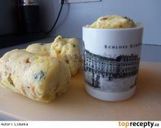 Hrnkové knedlíky z mikrovlnky Dumplings, Side Dishes, Muffin, Pizza, Menu, Bread, Cheese, Breakfast, Cooking