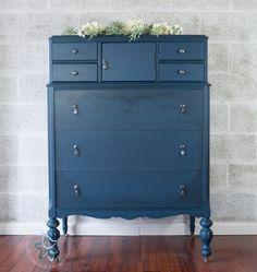 Blue Painted Dresser. Diy Furniture Dresser, Blue Painted Furniture,  Repainting Furniture, Furniture