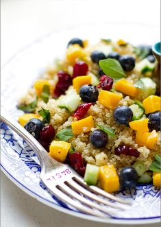 Mango Blueberry Quinoa Salad.  From Katie Brown Home Workshop.