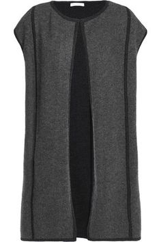 Duffy Woman Cashmere And Wool-blend Vest Dark Gray Size L Duffy 2018 New 4TOCs9m