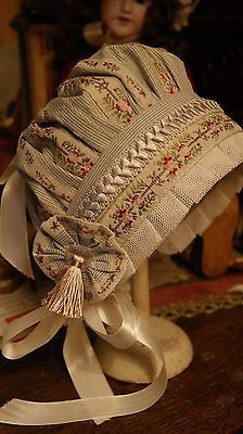 Nice Bonnet For Antique Bisque French German Doll