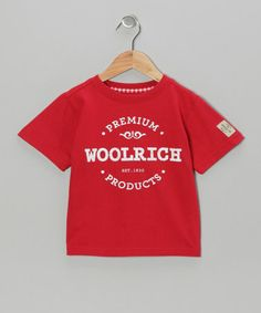 Love this Red 'Woolrich' Tee - Boys on #zulily! #zulilyfinds