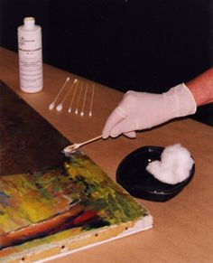 how to clean an oil painting. Who knows if I might need this one day.
