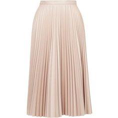 TopShop Pu Pleated Midi Skirt
