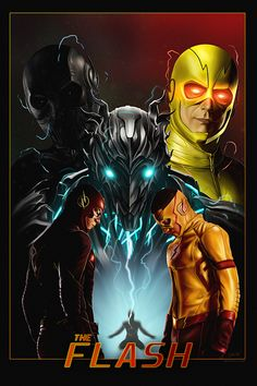 The Flash Poster Flash Savitar, Kid Flash, Flash Art, Flash Comics, Arte Dc Comics, Marvel Comics, Zoom The Flash, The Flash Poster, Caleb Y Sofia