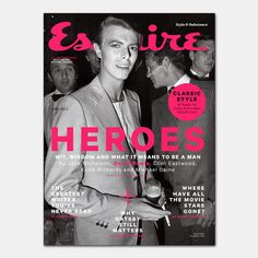 Esquire (UK) Great series of 'hero' covers! The covers include shots of Jack Nicholson, David Bowie, Clint Eastwood, Keith Richards and Michael Caine. David Bowie Covers, Esquire Uk, Uk Magazines, The Thin White Duke, Major Tom, Cinema, Ziggy Stardust, Jack Nicholson, Keith Richards