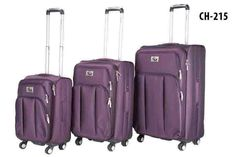 CH-215 Purple. Also available in black! #Travel #Luggage #Chariot #Fashion #Style #Durable #Purple #Black #TravelInStyle