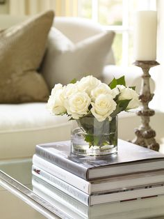 We love the elegant touches like vases of fresh-cut flowers found throughout the home.