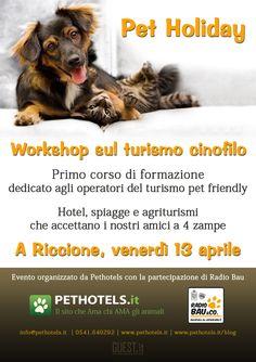 Corso di formazione dedicato al turismo Pet Friendly! Il 13 aprile a Riccione, affrettatevi ad iscrivervi!