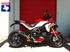ducati multistrada 1200 with akrapovic exhaust system Moto Ducati, Ducati Motorcycles, Cars And Motorcycles, Ducati 1200s, Ducati Multistrada 1200, Italian Beauty, Pikes Peak, Classic Italian, Super Bikes