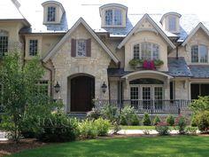 Fon Du Lac Webwall Natural Stone Veneer, Natural Stones, French Exterior, Window Casing, Garage Apartments, Ideas Para, Beautiful Homes, Victorian, Windows