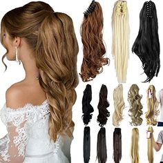 Days Delivery Straight Curly Synthetic Clip In Claw Ponytail Hair Extension Synthetic Hairpiece with a jaw/claw clip Hair Extensions Tutorial, Hair Extensions For Short Hair, Synthetic Hair Extensions, Clip In Extensions, Ponytail Hairstyles, Cool Hairstyles, Curly Clip Ins, Clip In Ponytail, Ponytail Extension