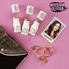 glitter gang look from vanessa. #missionglitter #getyourglitteron #glittergang #essence