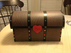 Pirate valentine treasure chest