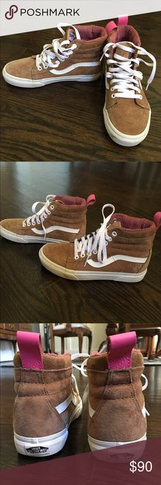 Vans SK8-Hi Toasted Coconut Suede W 6.5/ M 5.0 Hi-Top Suede Vans, worn twice in great condition! Extra shoelaces included and original box Vans Shoes Sneakers