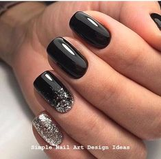 22 totally classy nail designs to rock this winter 2019 .- 22 total noble Nageldesigns, um diesen Winter 2019 zu rocken – Mode Und Outfit Trends 22 totally classy nail designs to rock this winter 2019 - Classy Nail Art, Classy Nail Designs, Winter Nail Designs, Black Nail Designs, Nail Ideas For Winter, Classy Gel Nails, New Years Nail Designs, Trendy Nails, Cute Nails