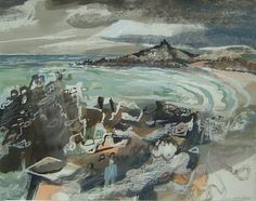 by Charles Shearer.Mixed media Artist/print maker inspired by deserted buildings and their surrounding landscapes. Landscape Art, Landscape Paintings, Landscapes, Wave Rock, Fauvism, Royal College Of Art, Architectural Features, St Ives, Mixed Media Artists