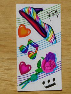 Vintage Lisa Frank Sticker Roses and Heals by vintage23 on Etsy, $1.49