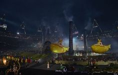 yellow submarines at opening ceremony