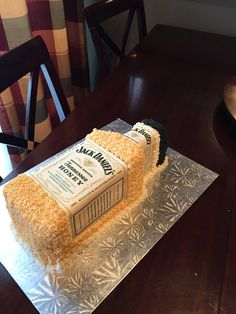 Jack Daniels Tennessee Honey Whiskey cake Cakes Pinterest