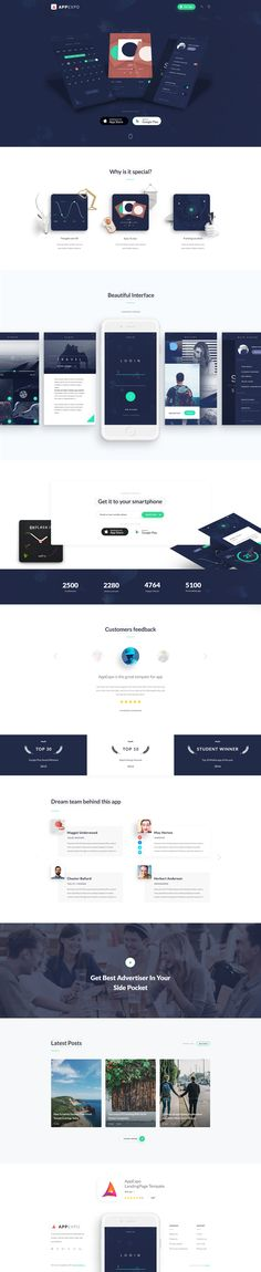 Buy AppExpo - Multipurpose App LandingPage PSD Template by TheRubikThemes on ThemeForest. Especially, this PSD template is free for . Responsive Web Design, Ui Web, Ui Design Mobile, App Design, Web Portfolio, Portfolio Design, Web Layout, Layout Design, Webdesign Layouts