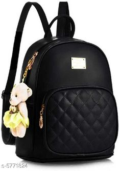 Backpacks TRENDY BACKPACK FOR GIRLS AND WOMENS Material: PU No. of Compartments: 2 Pattern: Solid Multipack: 1 Sizes: Free Size (Length Size: 15 in) Country of Origin: India Sizes Available: Free Size *Proof of Safe Delivery! Click to know on Safety Standards of Delivery Partners- https://ltl.sh/y_nZrAV3  Catalog Rating: ★3.9 (2573)  Catalog Name: Voguish Classy Women Backpacks CatalogID_868576 C73-SC1074 Code: 282-5771824-