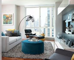 20 Design Ideas for Condo Living Areas ◆ AModern High-Rise