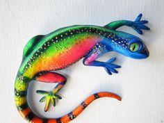 lizard reptile gecko wall decor art sculpture von artistJP auf Etsy