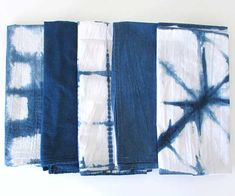 Tie-dye is trending again, but it doesn't look like the multicolored psychedelic designs of the 1960s -- or even of the 1990s, when hippie style made its first comeback. Thankfully, today's tie-dye looks more like the subdued and sophisticated patterns of these indigo tea towels, hand-dyed by Erin of Francois et Moi using traditional Japanese shibori techniques. Get details at Francois et Moi. /