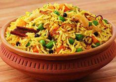 Vegetable Biryani Recipe - How to Make Veg Biryani Vegetable Biryani Recipe, Veg Biryani, Vegetable Recipes, Vegetarian Recipes, Vegetarian Cooking, Vegetable Rice, Cooking Bacon, Delicious Recipes, Cooking Recipes