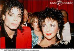Michael Jackson et sa grande amie, Elizabeth Taylor en 1988.