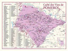 Carte des vins de Pomerol, 30x40 cm