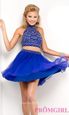 Scala Short Two Piece Dress at PromGirl.com