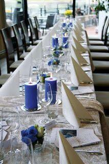 konfirmasjon borddekking og bordkort.