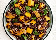 Loving black rice! With mango and peanuts it's a perfect balance of sweet and salty.